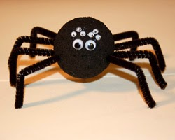 Pipe Cleaner Spiders Munchkins And Mayhem