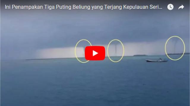 Video 3 Angin Puting Beliung Berjajar Terjang Kepulauan Seribu