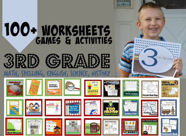 lots of fun, creative, and unique FREE printable 3rd grade worksheets and 3rd grade math to make learning all subjects FUN