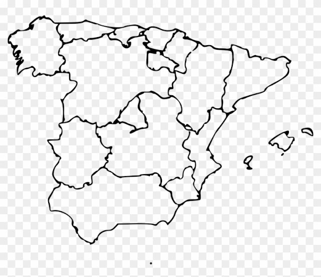 Blank Spain Map