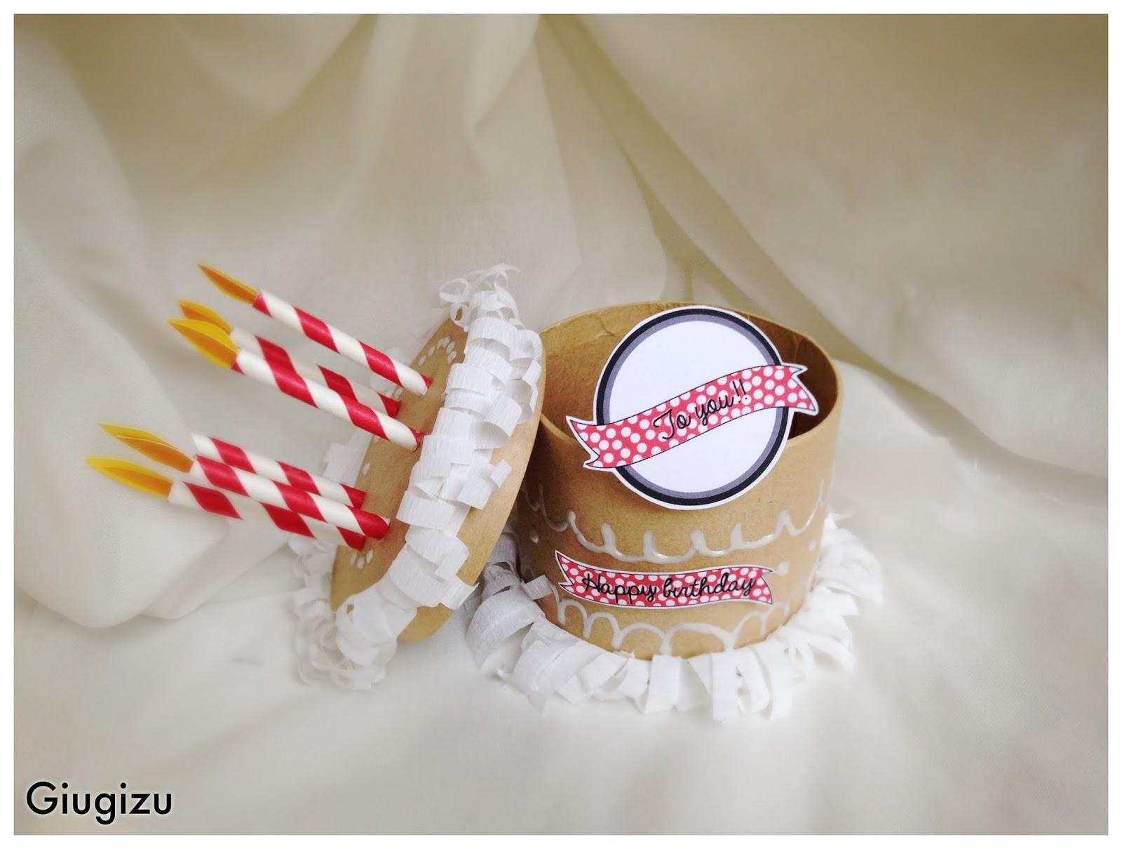Giugizu S Corner D I Y 3d Cake Pop Up Card Biglietto Fai Da Te