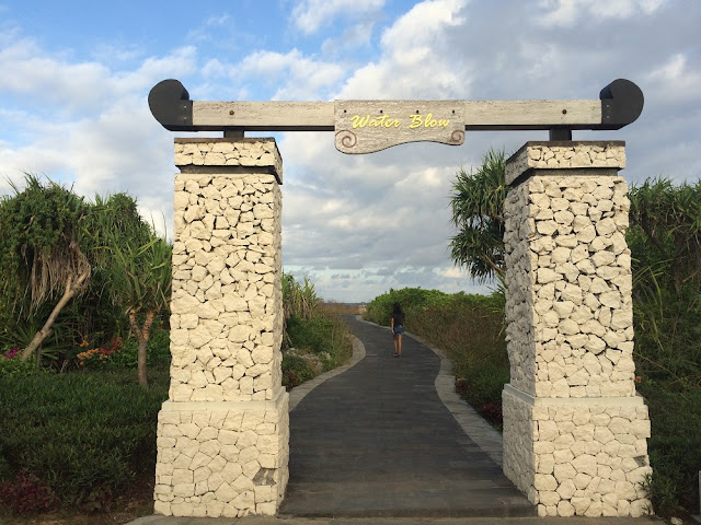 Gerbang masuk Water Blow Nusa Dua