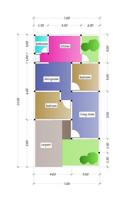 floor plan of beautiful house plan 16