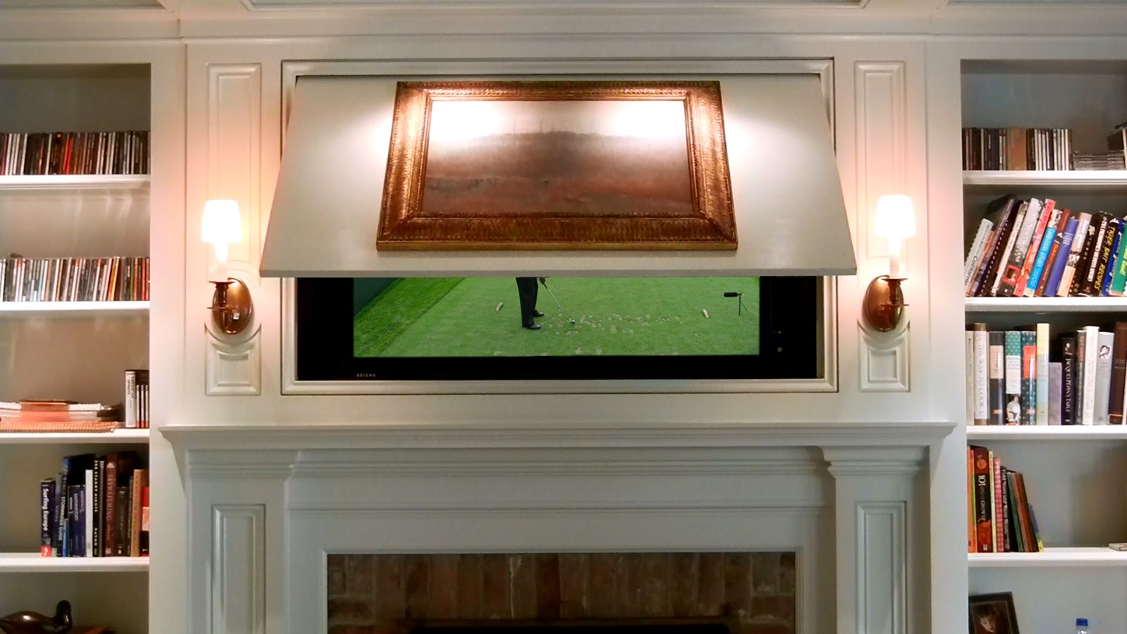 Hide Tv With Framed Art Or Mirror