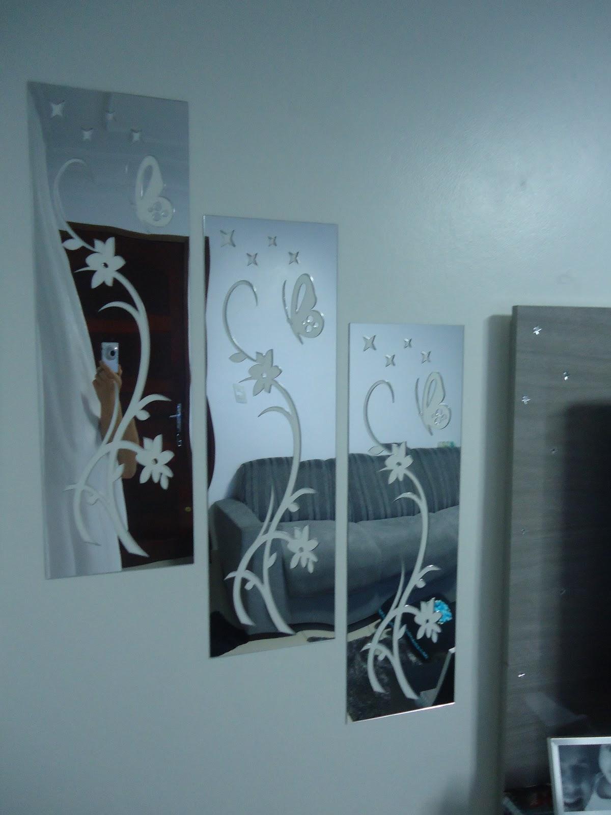 d89d1d80f2 Trio de quadros em acrilico espelhado!