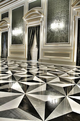 modern-black white marble flooring tile designs for living room and bathroom