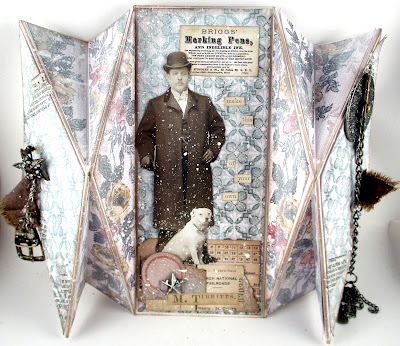 Tim Holtz Worn Wallpaper Paper Dolls Snippets Ephemera Swivel Clasp Story Sticks Game Pieces For the Funkie Junkie Boutique