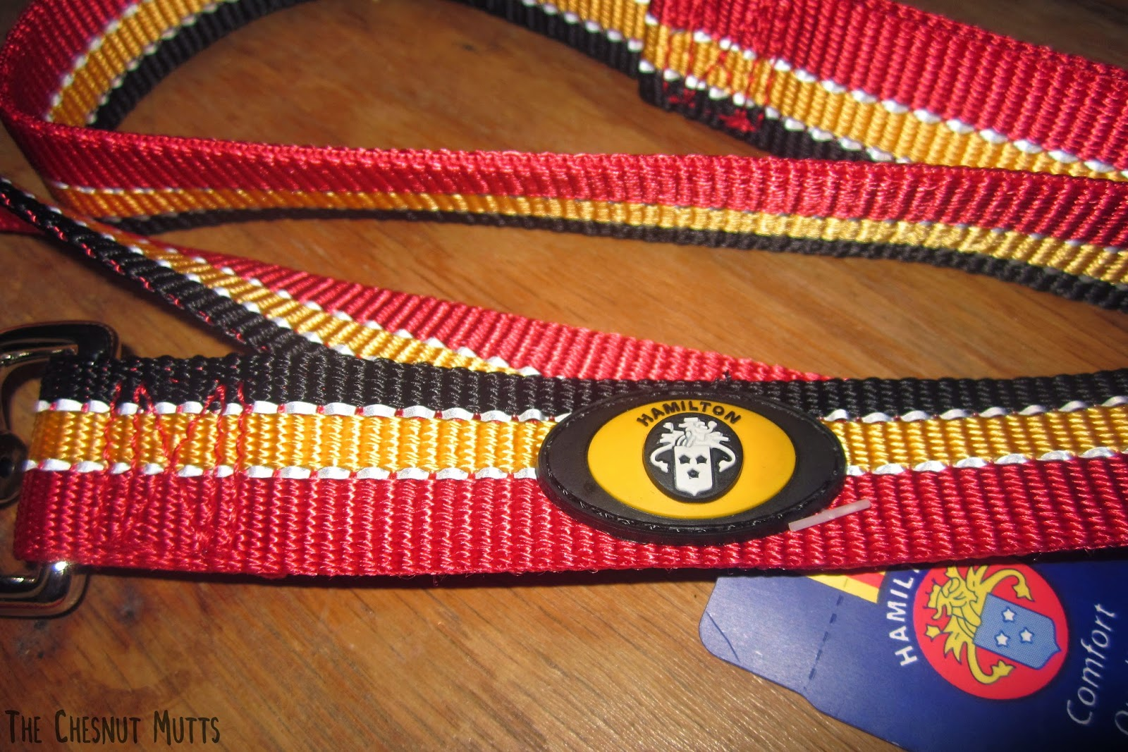A picture showing the nylon detail of the leash