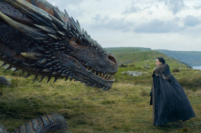 Game of Thrones Jon Snow and Drogon