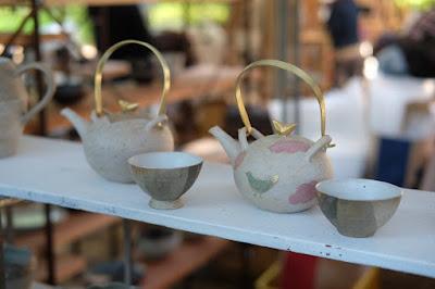 松本クラフトフェア2017 酒井泉さんの急須と茶碗