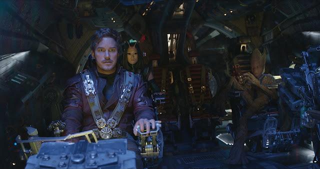 Strażnicy Galaktyki, Star Lord, Peter Quill, Gamora, Groot, Mantis, Rocket, statek kosmiczny, kosmos