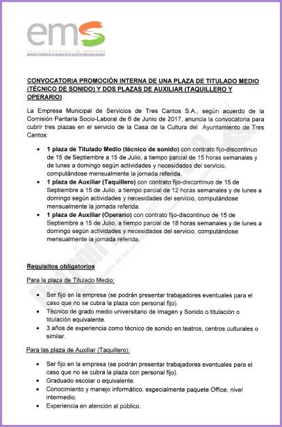Patrondesastre bases de la convocatoria de promoci n for Convocatoria para plazas docentes 2017