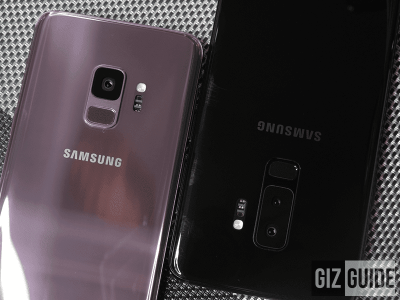 samsung s9 and s9+ with single and dual cams, respectively