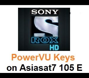 Sony Rox HD Channel Updated PowerVU Key on Asiasat7 105E