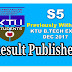 Previously Withheld Result Published-B.Tech S5 Exam Dec 2017 (S5 Result)