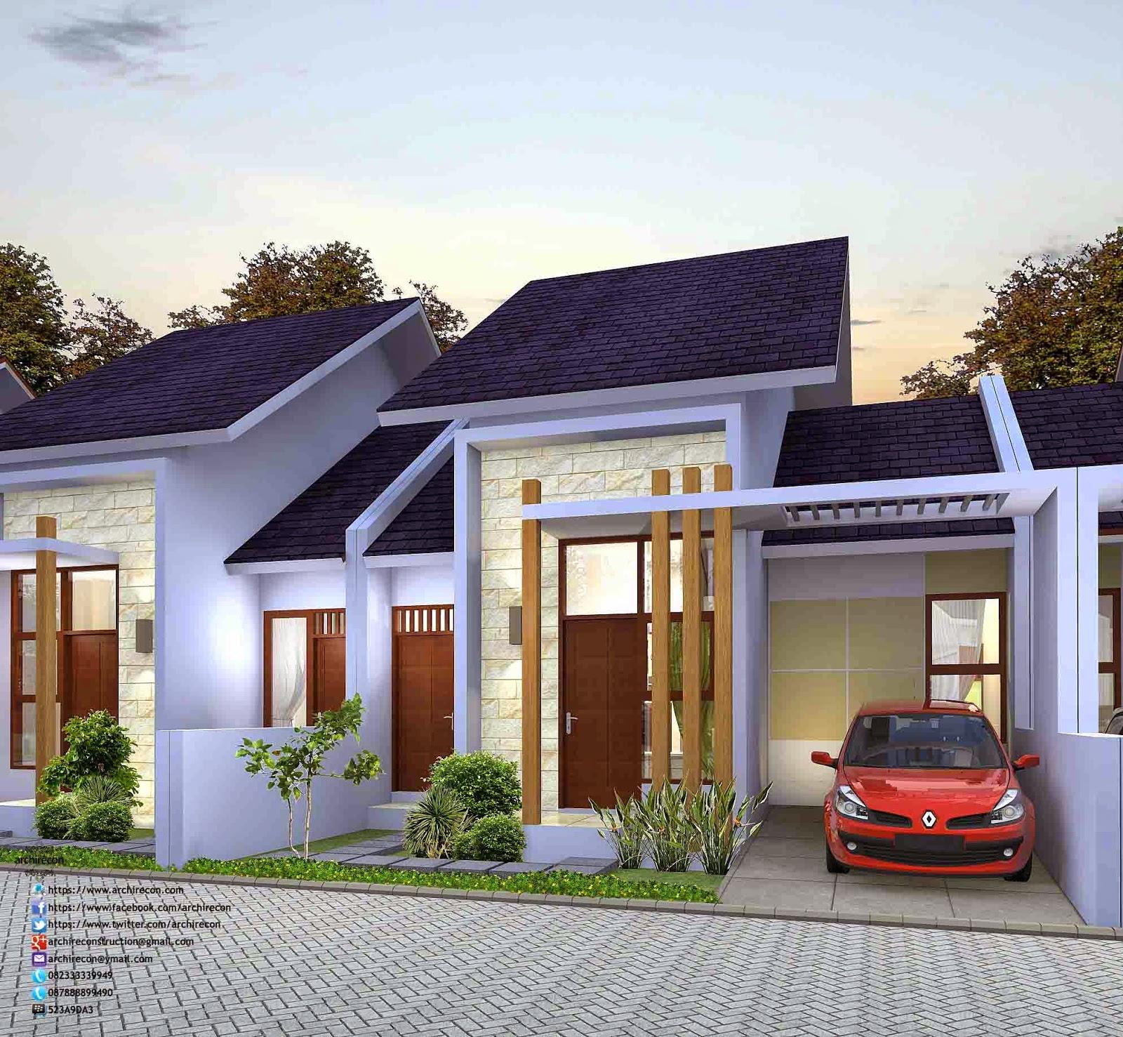 Desain Rumah Minimalis - Type 65 3D View