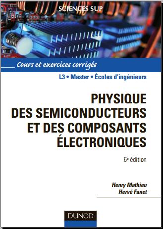 Livre : Physique des semiconducteurs et des composants électroniques, Cours et exercices PDF