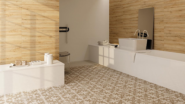 Tiles design images of Retro series - Perfect integration into any contemporary environment