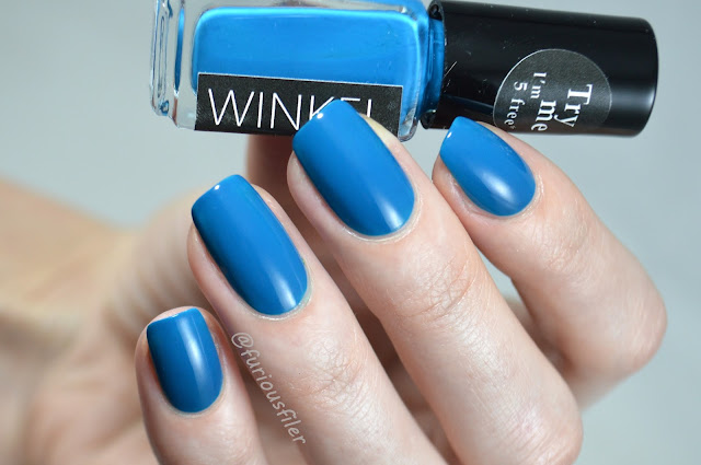 winkel nails swatch dark turquoise #145 review