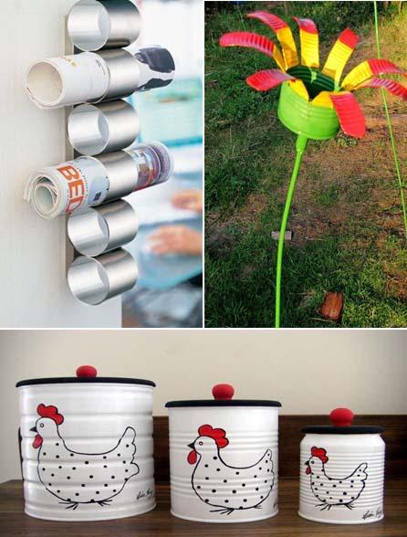 Manualidades con latas de conserva recicladas - Reciclar latas de conserva ...
