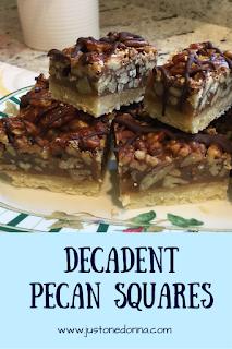 Decadent pecan squares.
