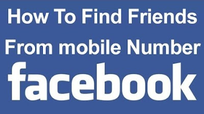 how to find someone/friends on facebook using there phone number