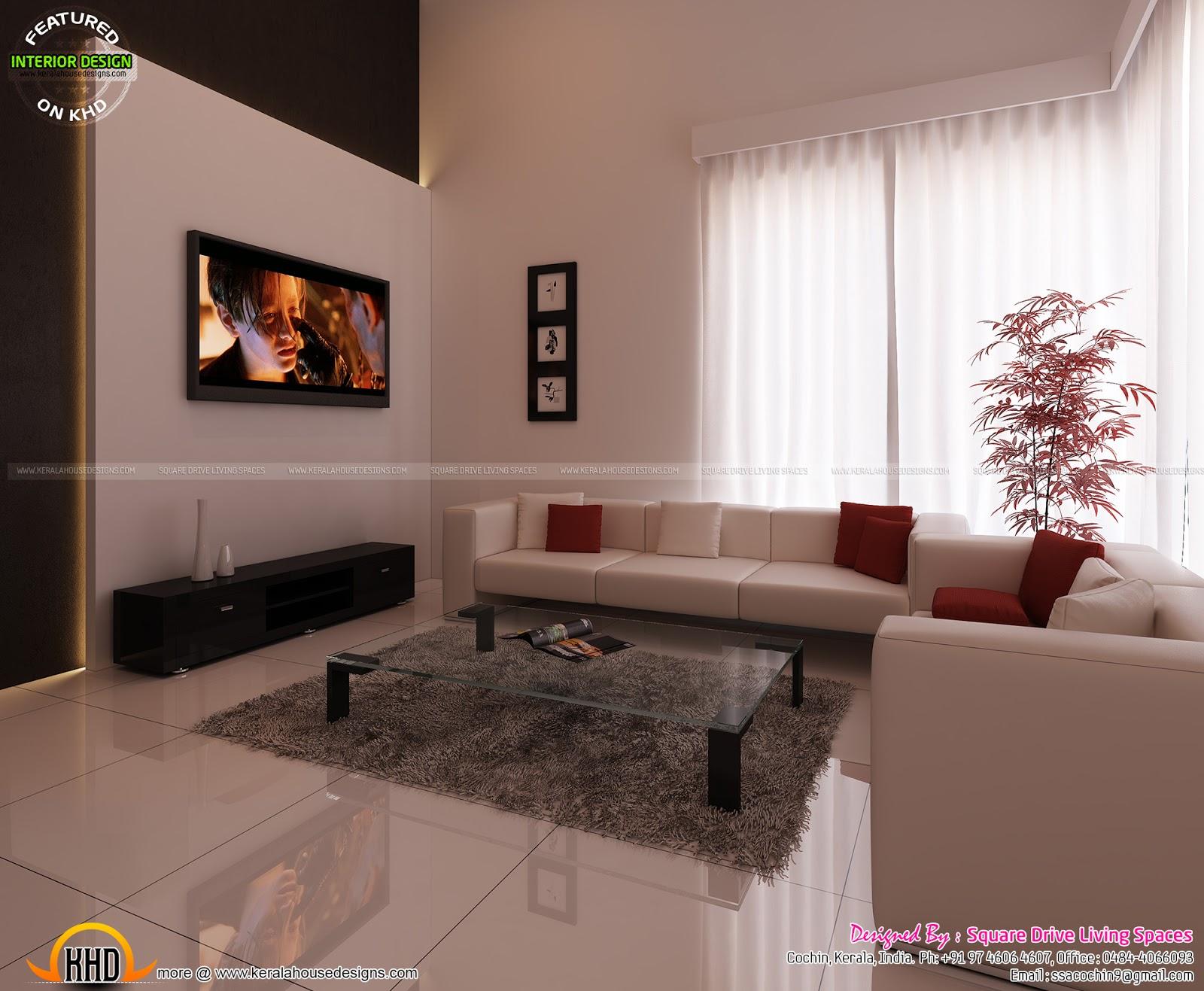 Green Kitchen, Bedroom, Living Inteiors