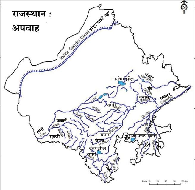 rajasthan river flow map