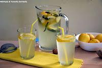Φρέσκια λεμονάδα με τζίντζερ και πραγματική στέβια - by https://syntages-faghtwn.blogspot.gr
