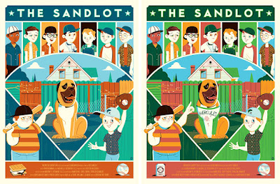 The Sandlot Movie Poster Screen Prints by Dave Perillo x Mondo