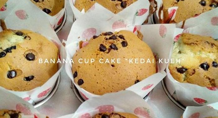 Resep Cup Cake Pisang Praktis Koki Tangguh Bunda Nusantara