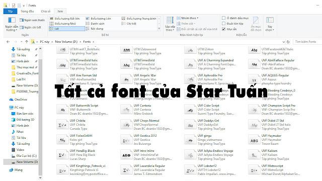 Share tất cả font của Star Tuấn