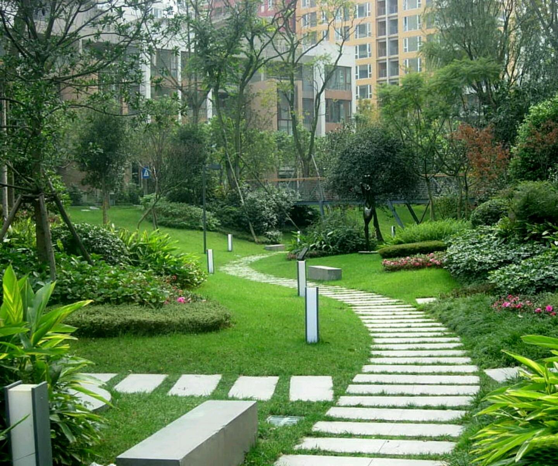 Modern beautiful home gardens designs ideas. | New home ... on Modern Backyard Landscape Ideas id=31780