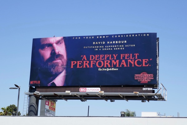 Stranger Things 2 David Harbour 2018 Emmy FYC billboard