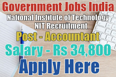 National Institute of Technology NIT Recruitment 2017 Manipur