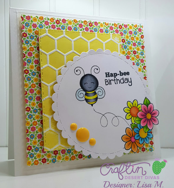 created In The Crafting Cave with Lisa using CDD Busy Bee Stamp Set