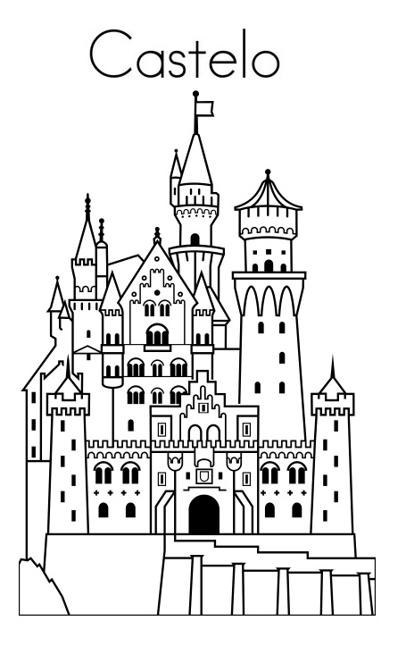 blog de geografia castelo desenho para imprimir e colorir