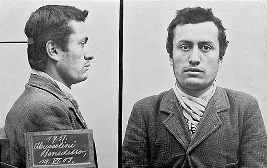 Portrait de Mussolini en prison à Berlin