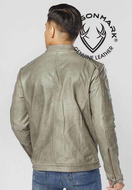 áo khoác da bò nam