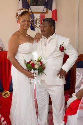 portrait des mariés guadeloupe mairie de pointe noire