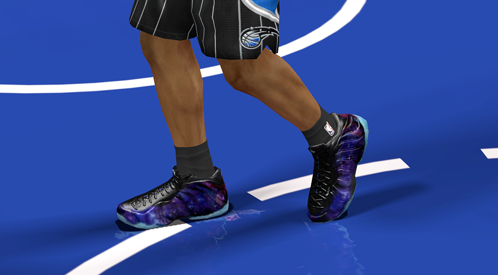 NBA 2K14 Purple Galaxy Shoes Mod