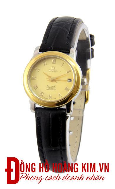 Đồng hồ đeo tay nữ Omega dây da giá rẻ dưới 1 triệu
