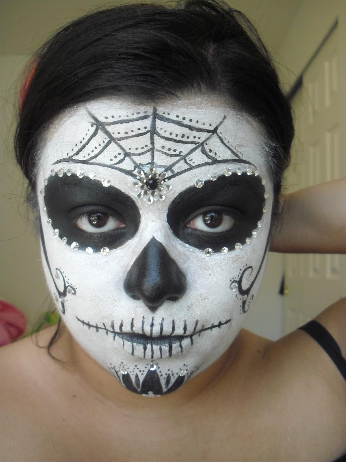 Christina D Makeup: Simple Sugar Skull (Calavera)