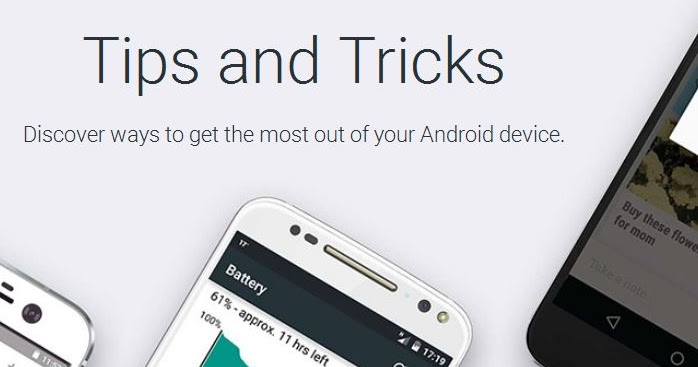 Google Lanza una pagina dedicada a consejos para android