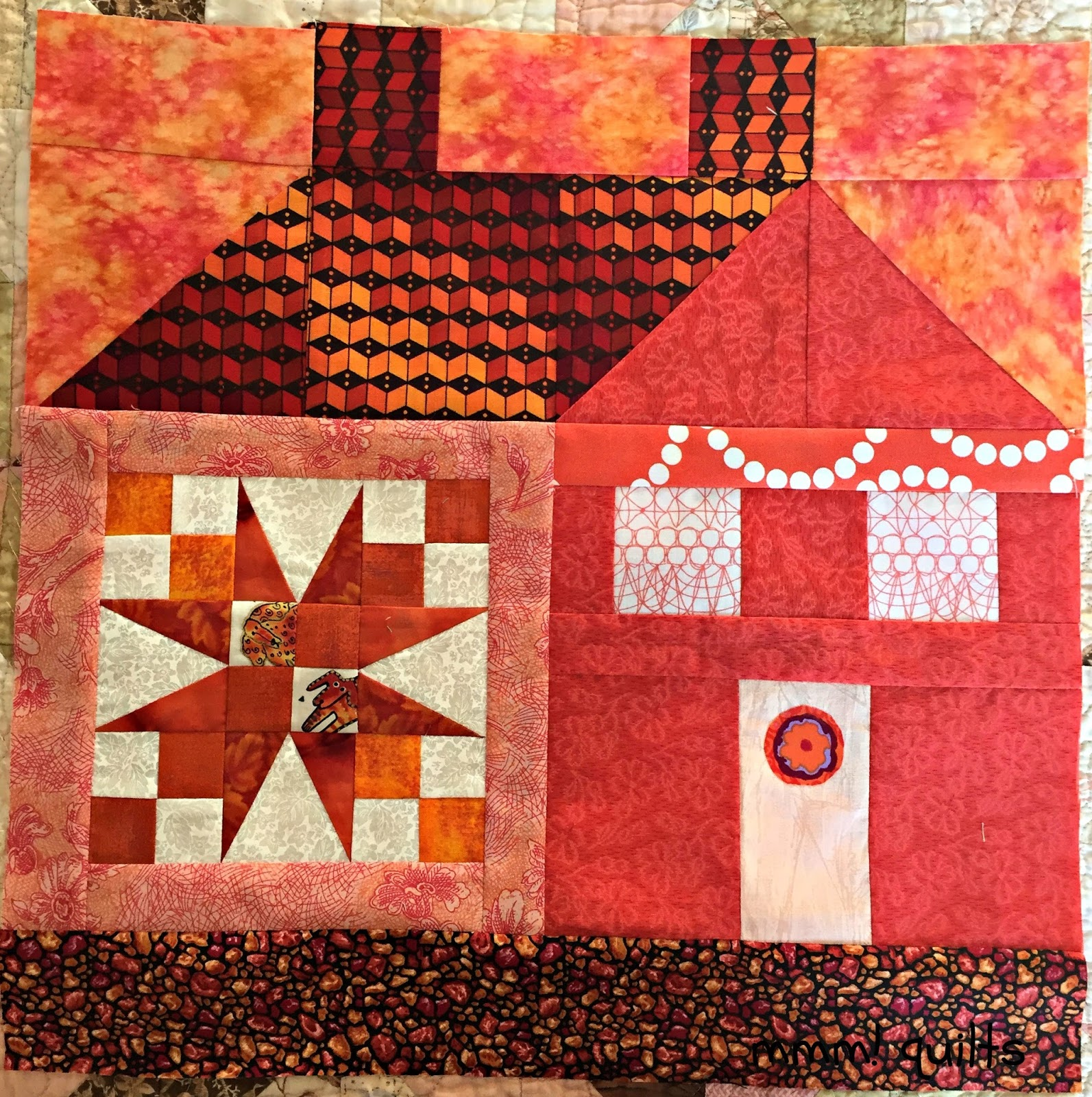 musings of a menopausal melon - mmm! quilts: orange a peel