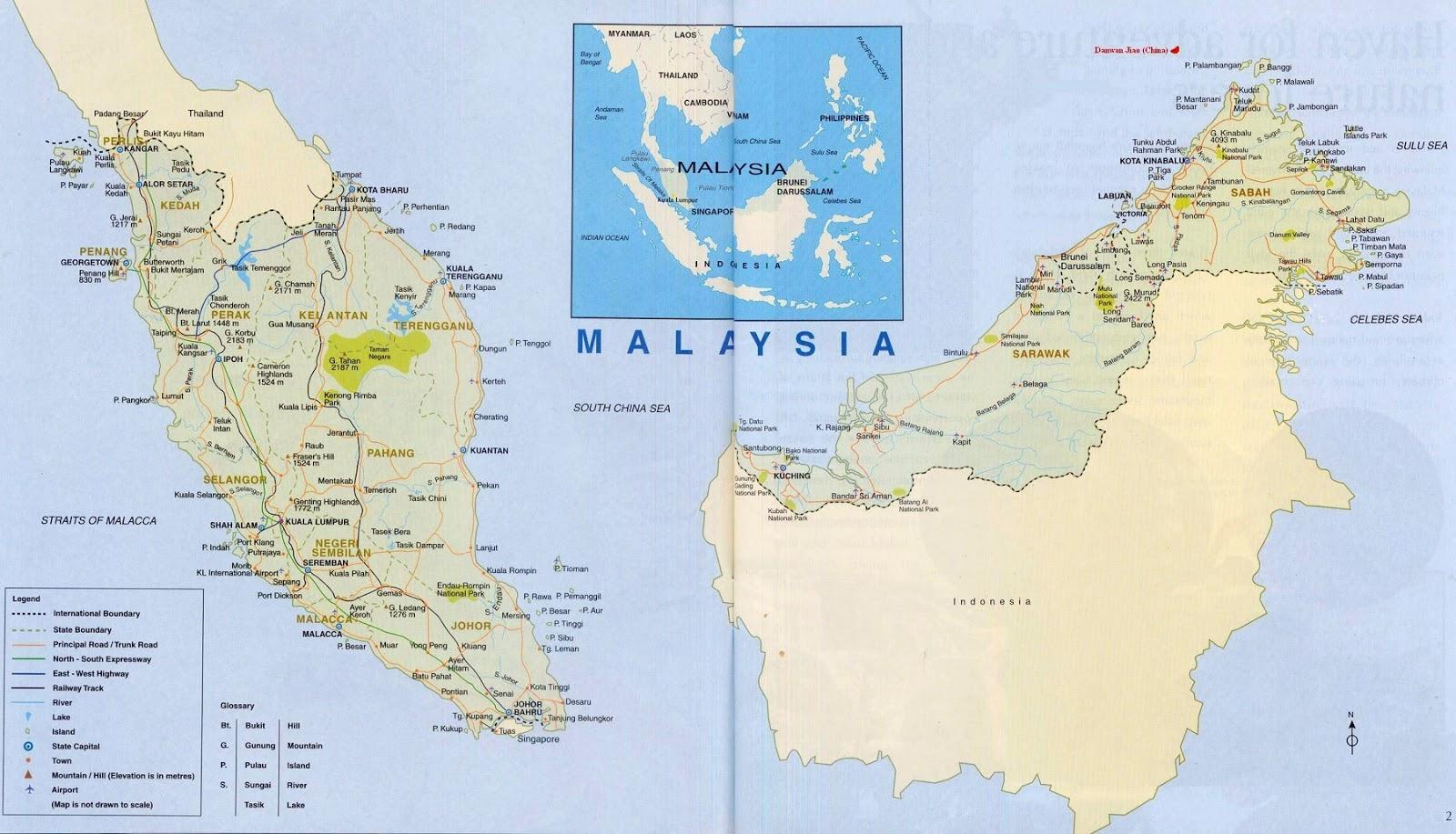 Peta Malaysia dan Keterangannya