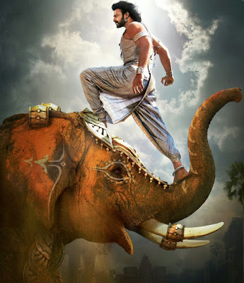 Bahubali Prabhas on Elephant