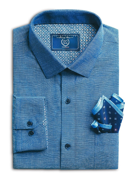Sapphire Blue Shirt from Forma-Linens collection by Peter England
