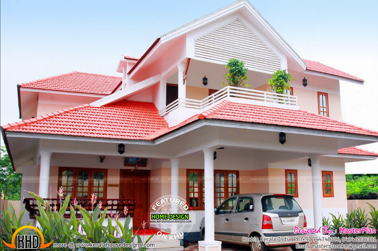 Beautiful finished house in kerala kerala home design for Kerala homes photo gallery