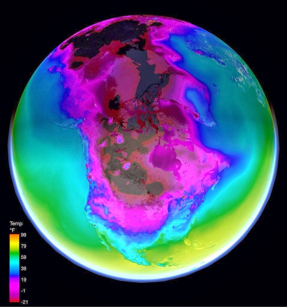 How Arctic Temperatures Are Spreading Accross North America